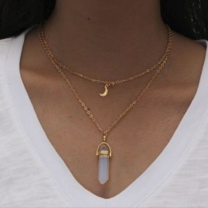 Jewelry - NEW double layer crystal prism necklace